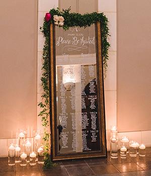 LAURA + BILLY WEDDING Mirror Signage