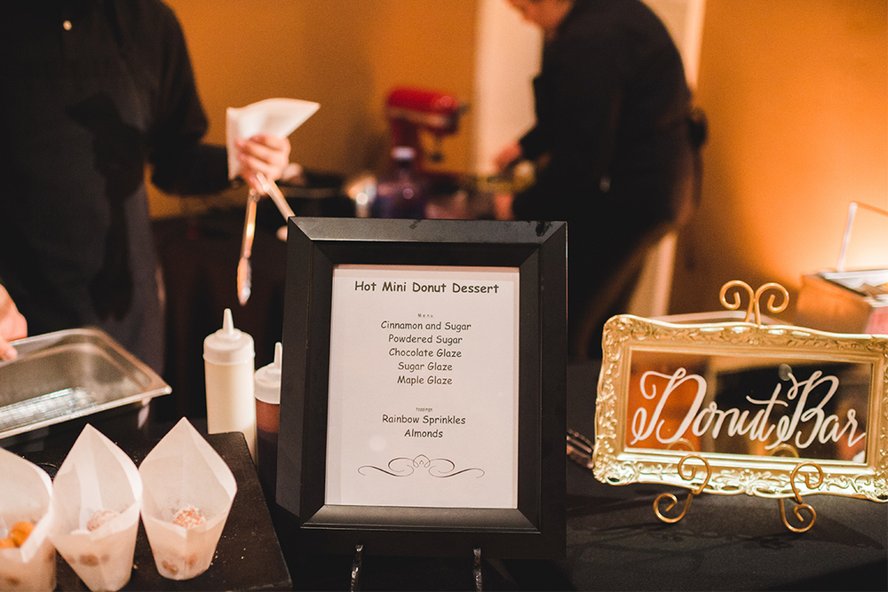 Sweet + Crafty | Wedding mirror donut bar sign #sweetandcrafty #weddingsignage #handlettering #calligraphy #romantic #elegant #gold #luxurywedding #customdesign #mirror #mirrorsignage #mirrorsign #wedding #calarealwedding #livermorevalley #donutbar #donutbarsignage #weddingdonuts #weddingdonutbar