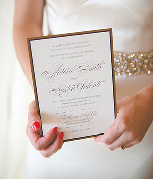 BEAUTY IN BLOOM STYLED SHOOT Invitation, Calligraphy, Paper Goods