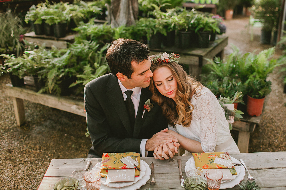 Vintage Botanical Wedding | Flora Grubb Gardens Styled Shoot