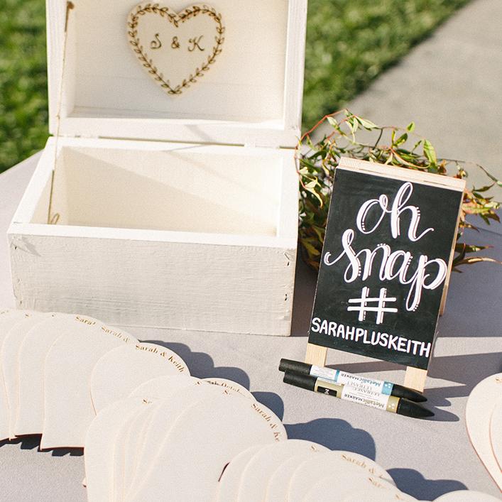 Sweet + Crafty | Chalkboard Wedding Hashtag Sign Calligraphy
