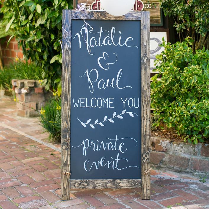 Sweet + Crafty | Chalkboard Wedding Welcome Sign Calligraphy