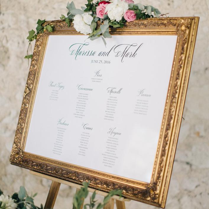 Sweet + Crafty | Framed Wedding Seating Chart