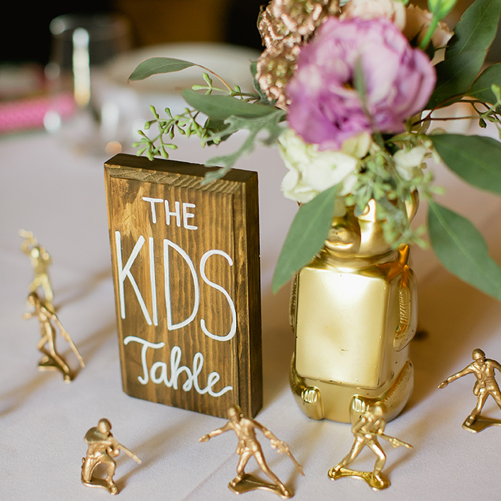 Sweet + Crafty | Wedding Kids Table Sign
