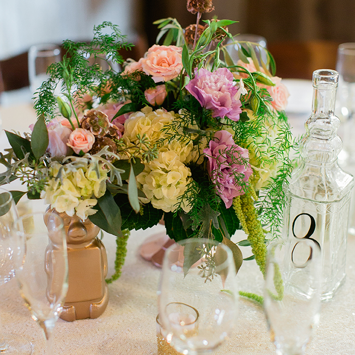 Sweet + Crafty | Wedding Vintage Bottle Table Number Calligraphy