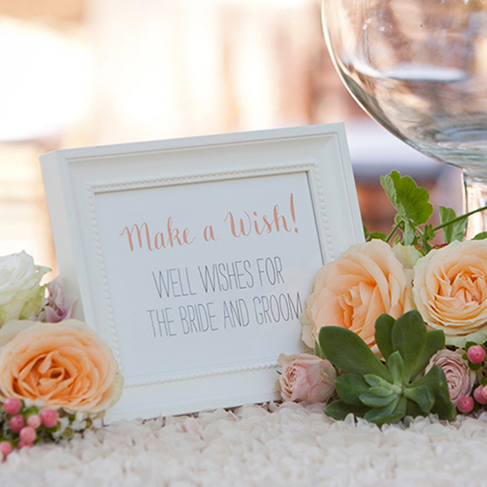 Sweet + Crafty | Wedding Guestbook Alternative Signage