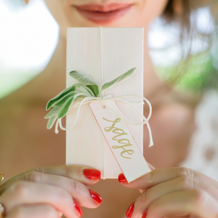 Sweet + Crafty | Wedding Seed Packet Favors and Calligraphy Tags