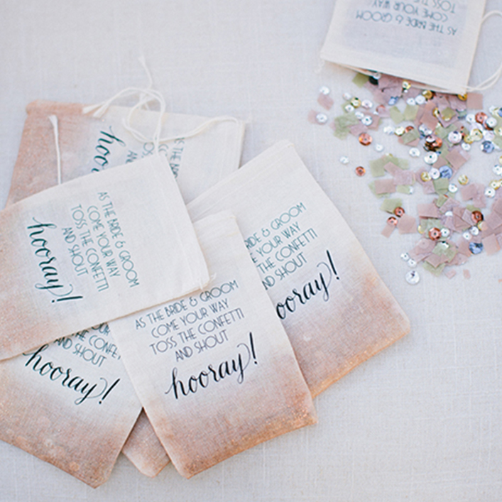Sweet + Crafty | Wedding Custom Confetti Bags