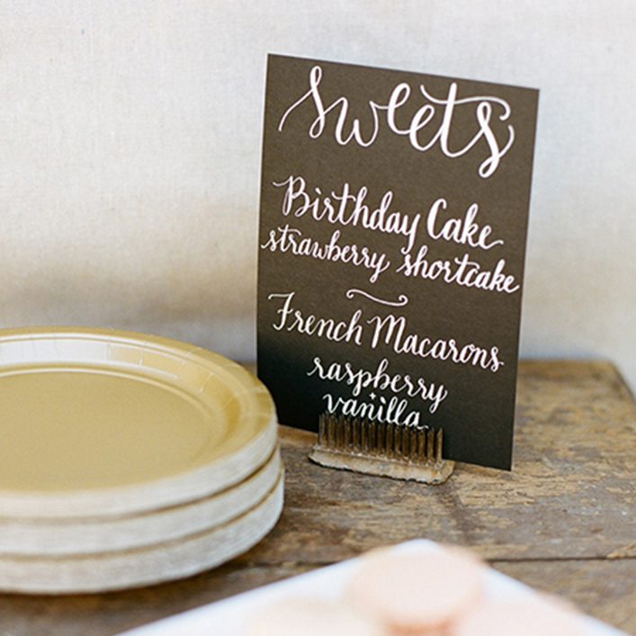 Sweet + Crafty | First Birthday Party Calligraphy Dessert Sign