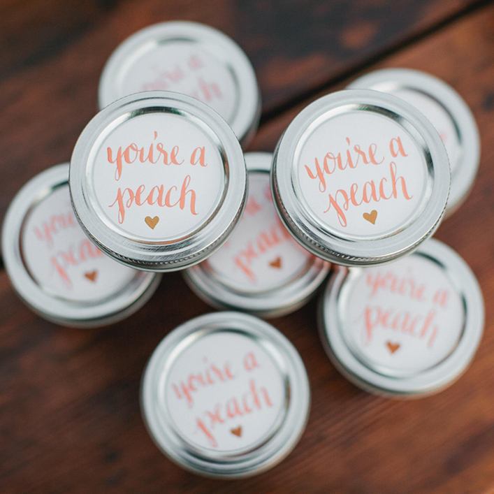 Sweet + Crafty | Wedding Favor Calligraphy Jam Labels
