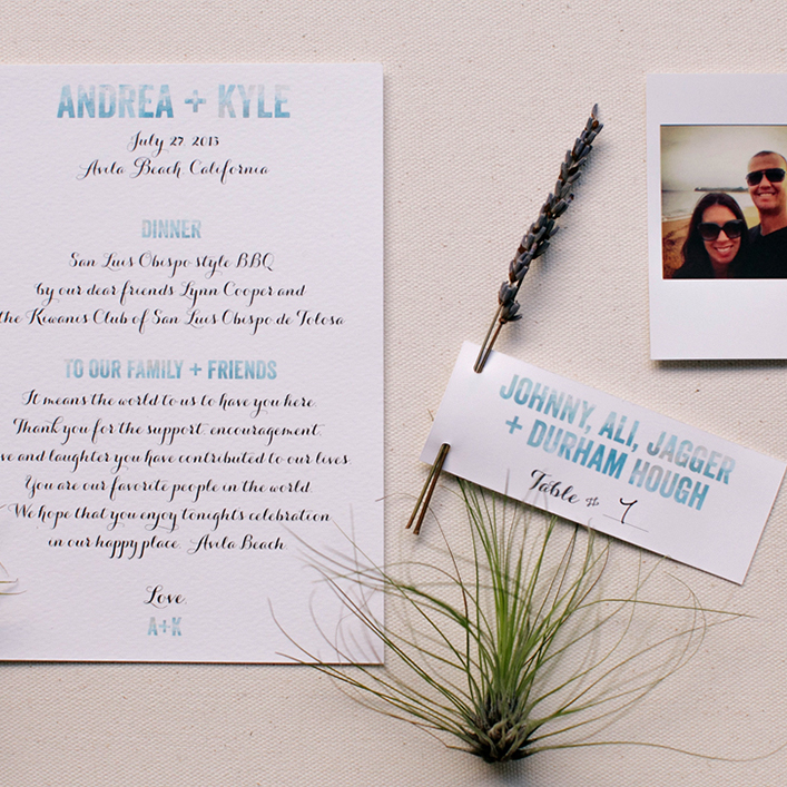 Sweet + Crafty | Wedding Watercolor Design Thank You Notes and Escort Cards with Lavender Sprigs