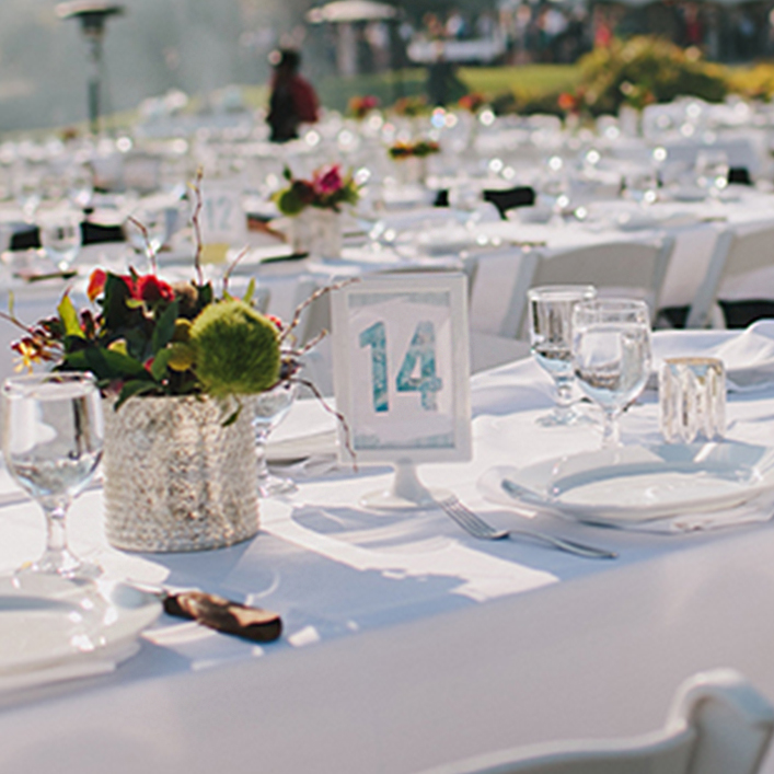 Sweet + Crafty | Wedding Watercolor Design Table Numbers