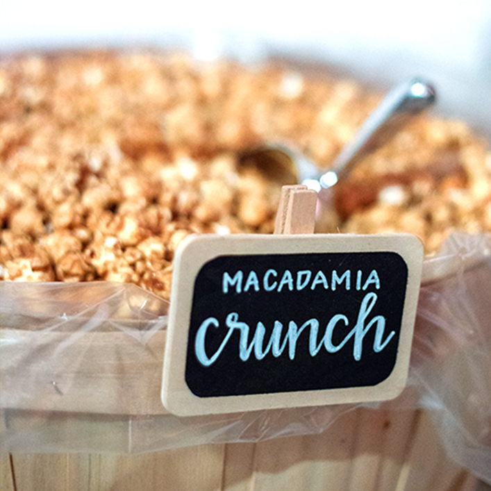 Sweet + Crafty | Wedding Chalkboard Calligraphy Popcorn Bar Signs