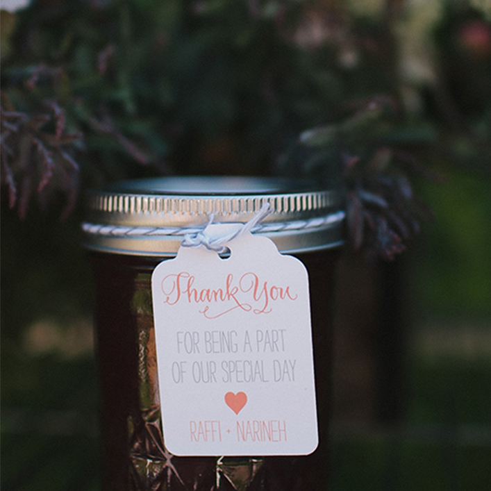 Sweet + Crafty | Wedding Favor Jam Tag Design