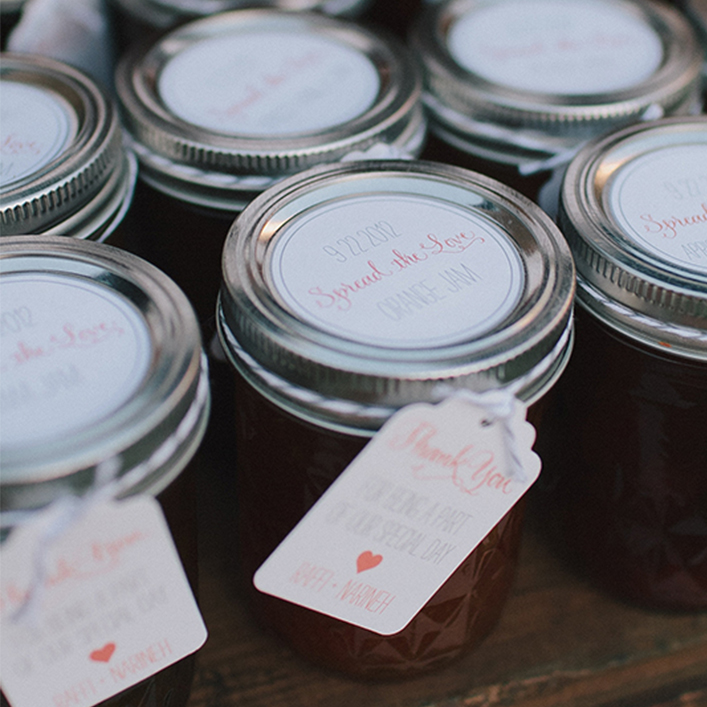 Sweet + Crafty | Wedding Favor Jam Tag and Label Design