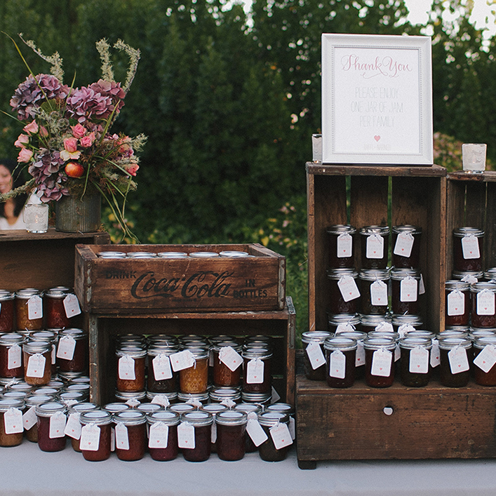 Sweet + Crafty | Wedding Favor Jam Tags and Signage