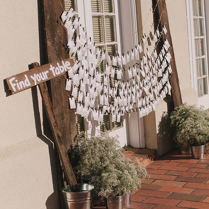 Sweet + Crafty | Wedding Escort Card Display