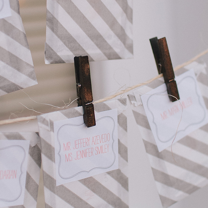 Sweet + Crafty | Wedding Escort Card Packets