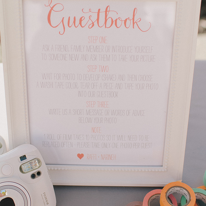 Sweet + Crafty | Wedding Guestbook Signage