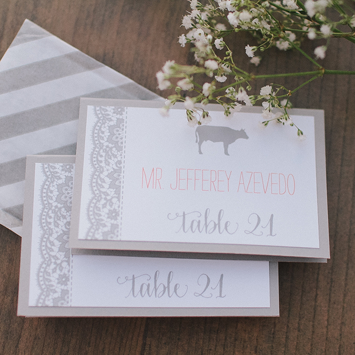 Sweet + Crafty | Wedding Escort Card Design