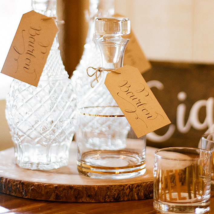Sweet + Crafty | Wedding Decanter Tags