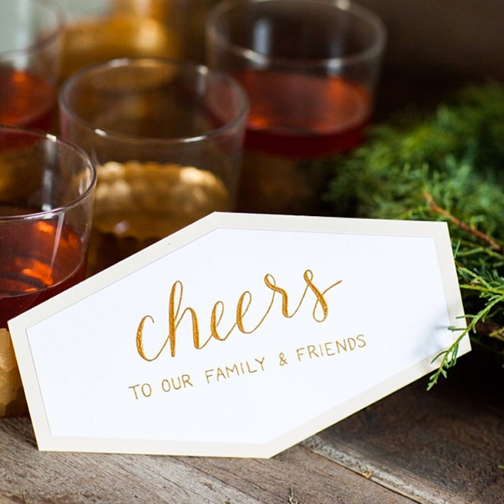 Sweet + Crafty | Holiday Party Sign Calligraphy