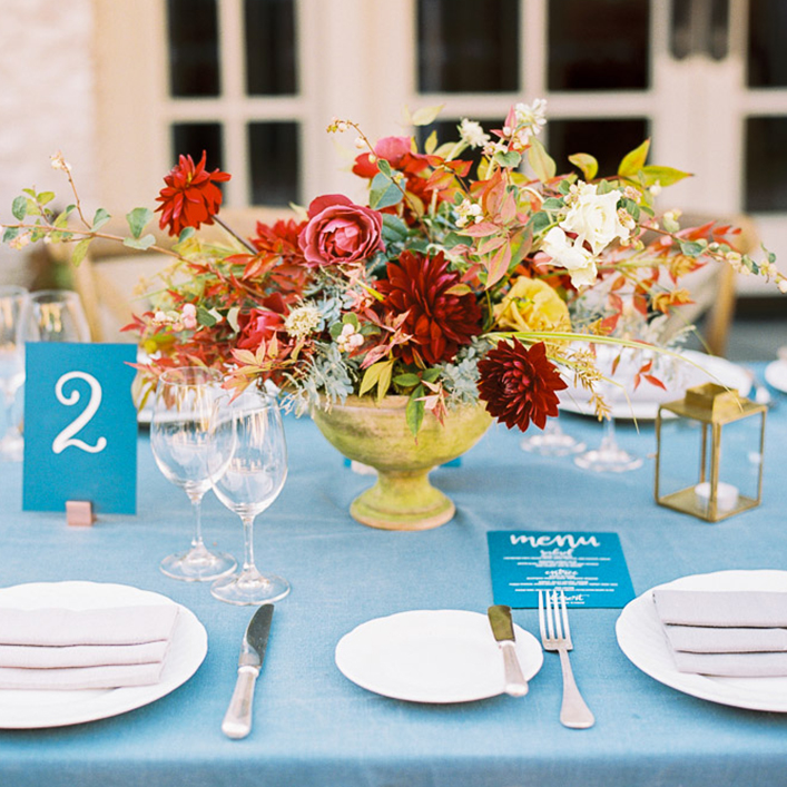 Sweet + Crafty | Wedding Menus and Table Numbers