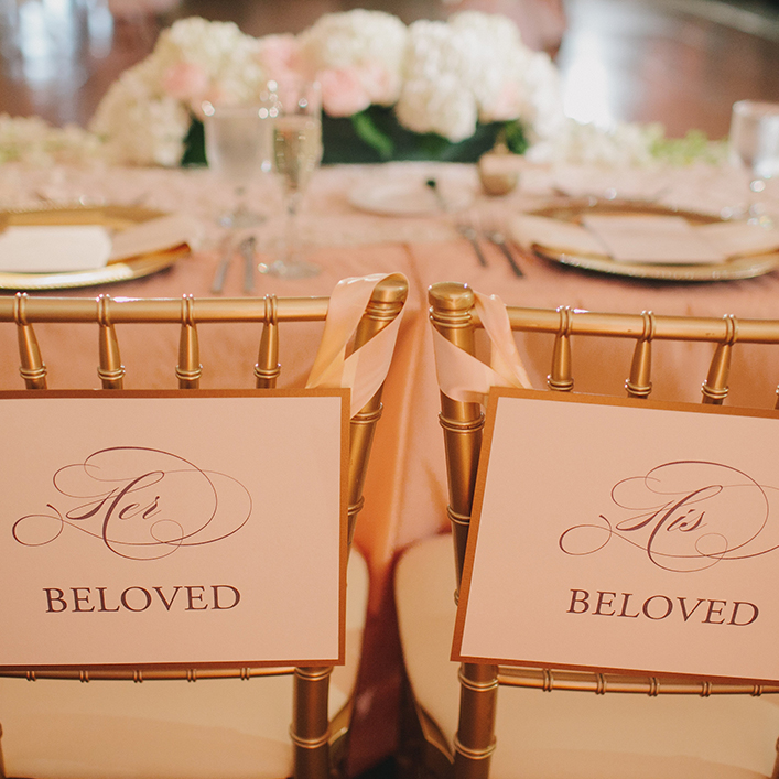 Sweet + Crafty | Wedding Chair Back Signs