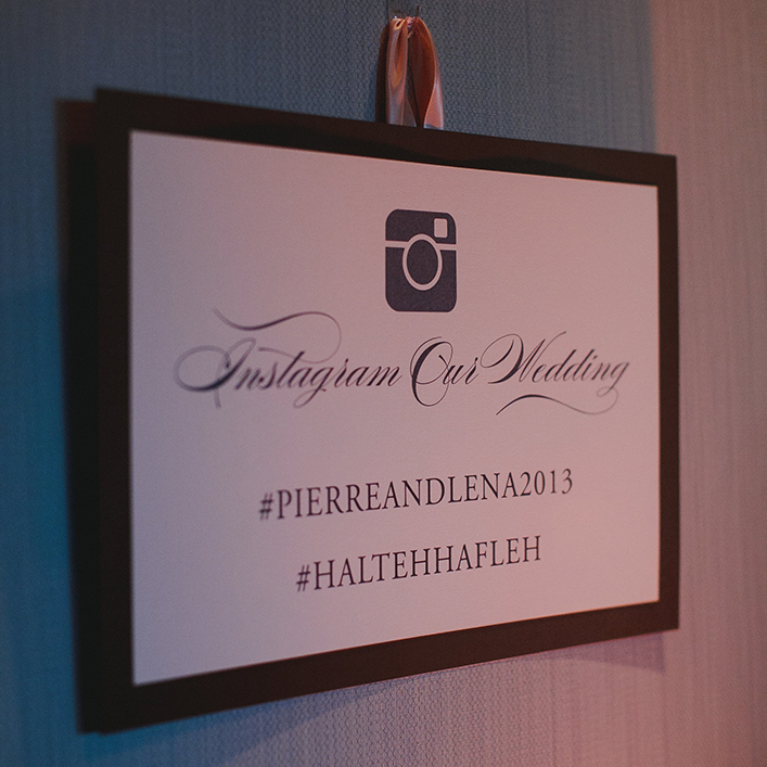Sweet + Crafty | Wedding Hashtag Sign
