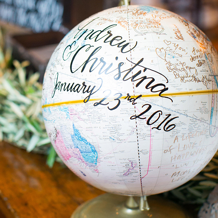 Sweet + Crafty | Wedding Globe Sign