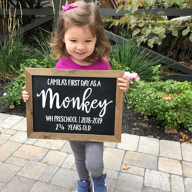 Congrats to this little cutie on her first day of preschool! @asaucedo #sweetandcrafty #customdesigns #customdesign #customsign #backtoschoolsign #firstdayofschool #firstdayofpreschool #firstdayofschoolsign #chalkboardsign #signage #chalkboard #chalkartist #chalkpaint #chalkpainter #signpainter