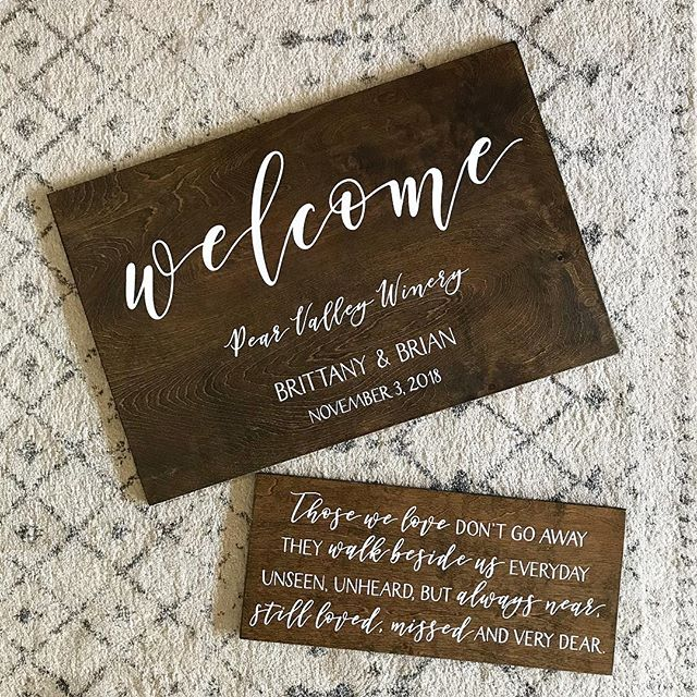 Shipping these out for a November wedding! I love this quote to remember loved ones not able to be present on wedding days.
