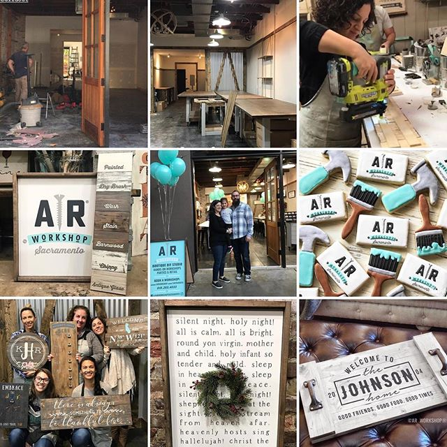 Alright, Sweet + Crafty friends. It's time to finally share some really exciting news from 2018! 3 weeks ago, we had the grand opening of our new DIY workshop space in Midtown, Sacramento. I assure you that I will continue to take on wedding and event design work, so not too much will be changing here, but I will most likely scale back a bit. It has always been a dream of mine to have a space where others can come and experience the joy of being creative and leaving with a finished piece they can be proud to say they created. It has been an intense few months but we are super excited and encouraged by how well received it has been so far and how pumped the community is to have us! If you are in Sacramento, please come by and check it out. I would also love if you follow along on our new journey @arworkshopsacramento. I want to reiterate that @sweetandcrafty is not going anywhere and I am still super passionate about being a part of your special events. Thanks for the support here for the last 7 years and continued support for the years to come! Happy New Year!! 🎉