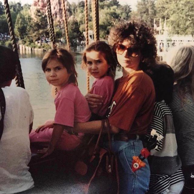 We are the cutest. #disneyland !!!!!! #tbt #1989 #80smomhair
