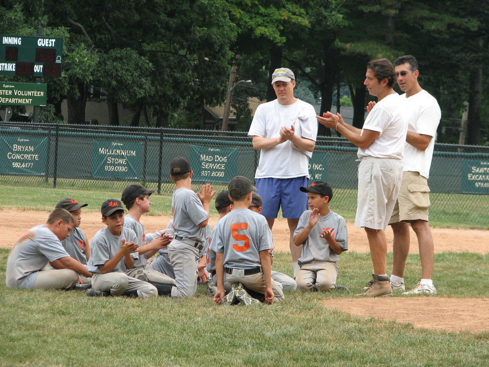Postgame meeting_080705.JPG