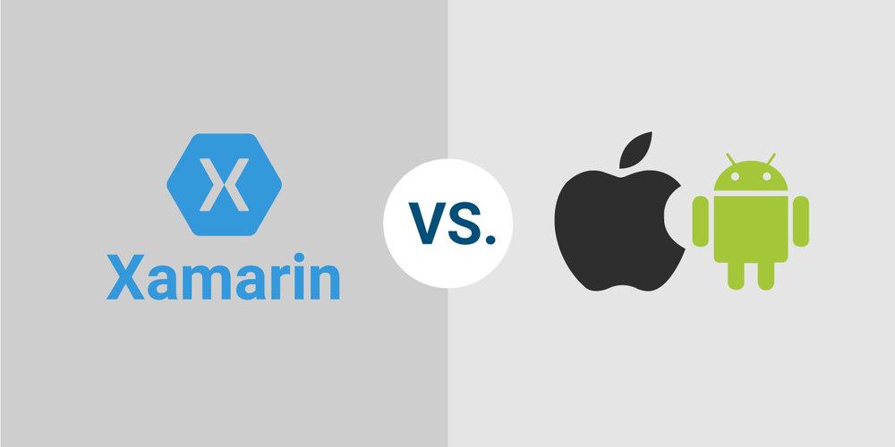 Xamarin app udvikling VS native app udvikling. Kode, vedligeholdelse og udvikling.