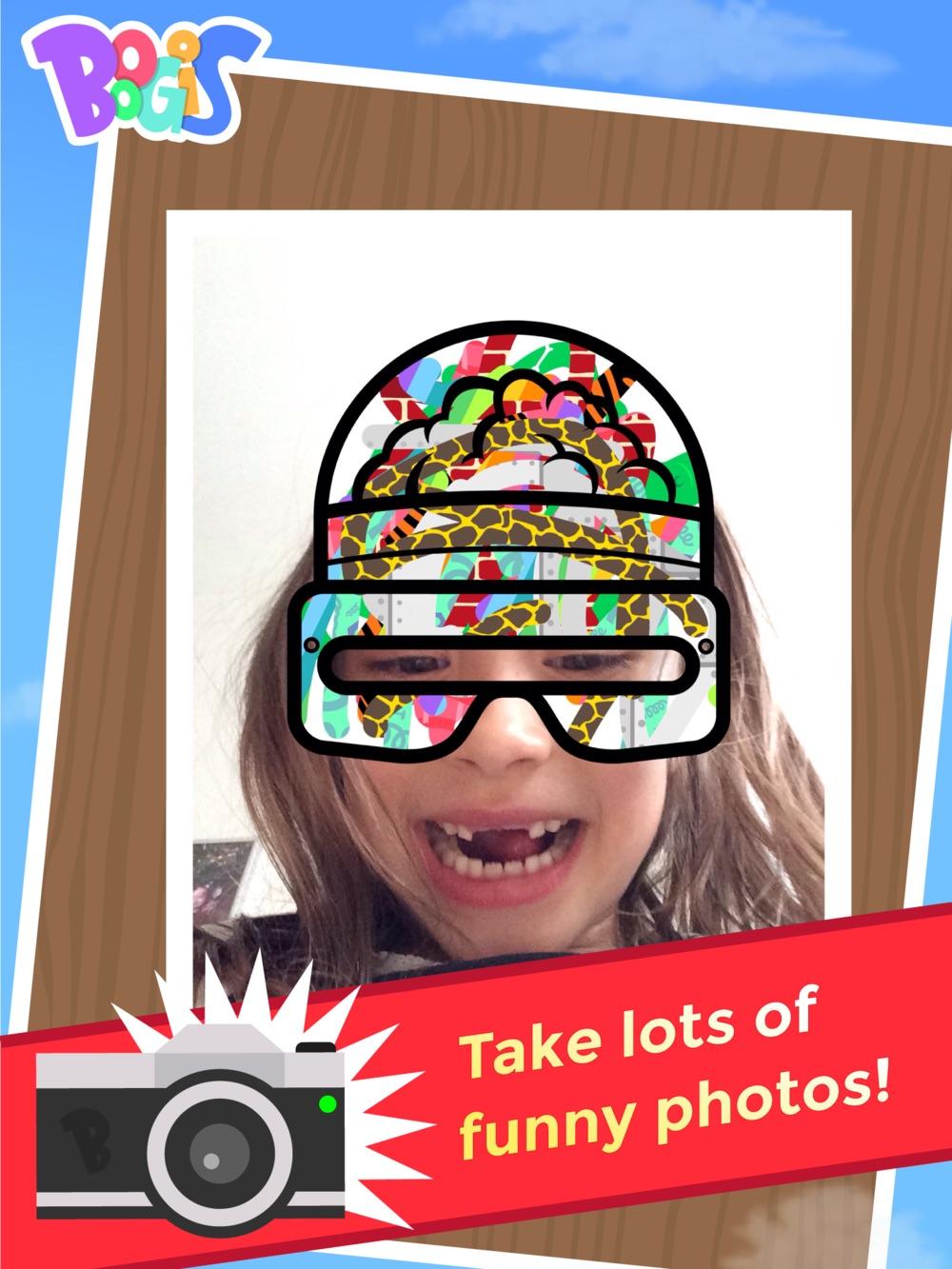 Boogis Mask Maker iPad app billeder