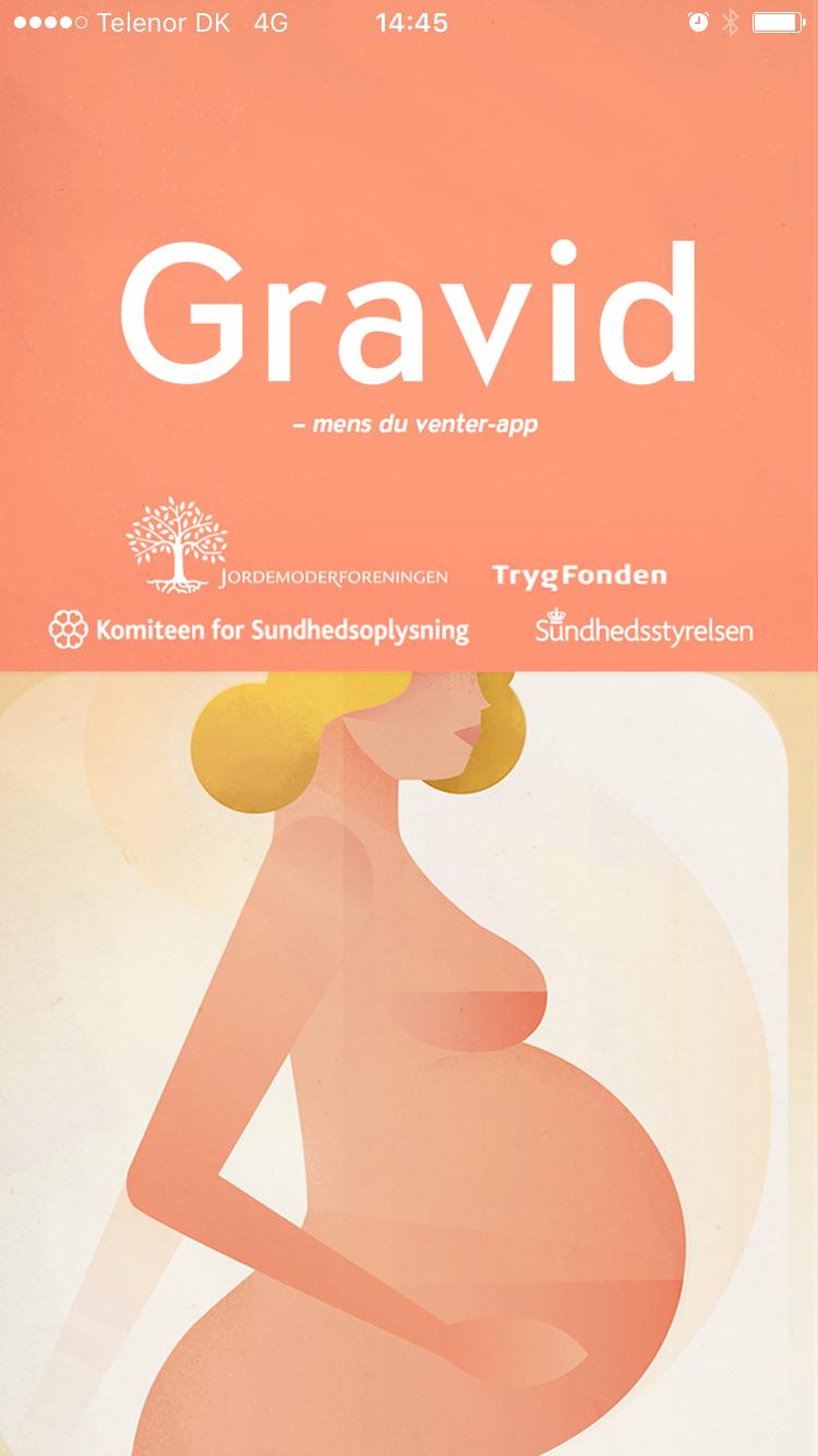 Gravid app - en app til gravide for Komiteen for sundhedsoplysning, Jordmoderforeningen, TrygFonden og Sundhedsstyrelsen