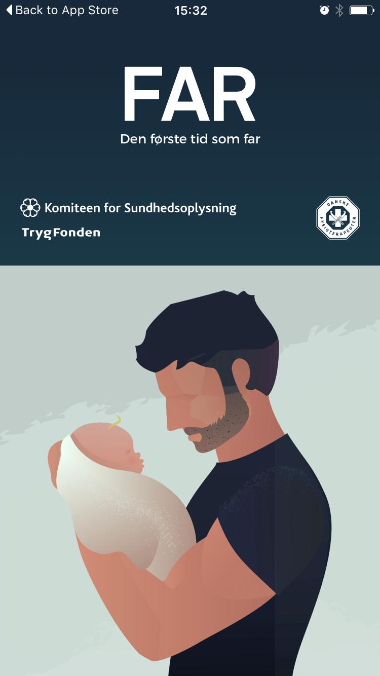FAR app - Den første tid som far