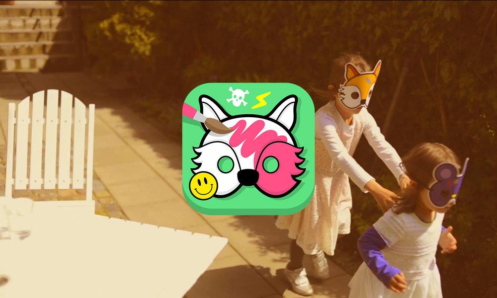 Boogis mask maker dyi børneapp - lav dine egne masker og print dem ud