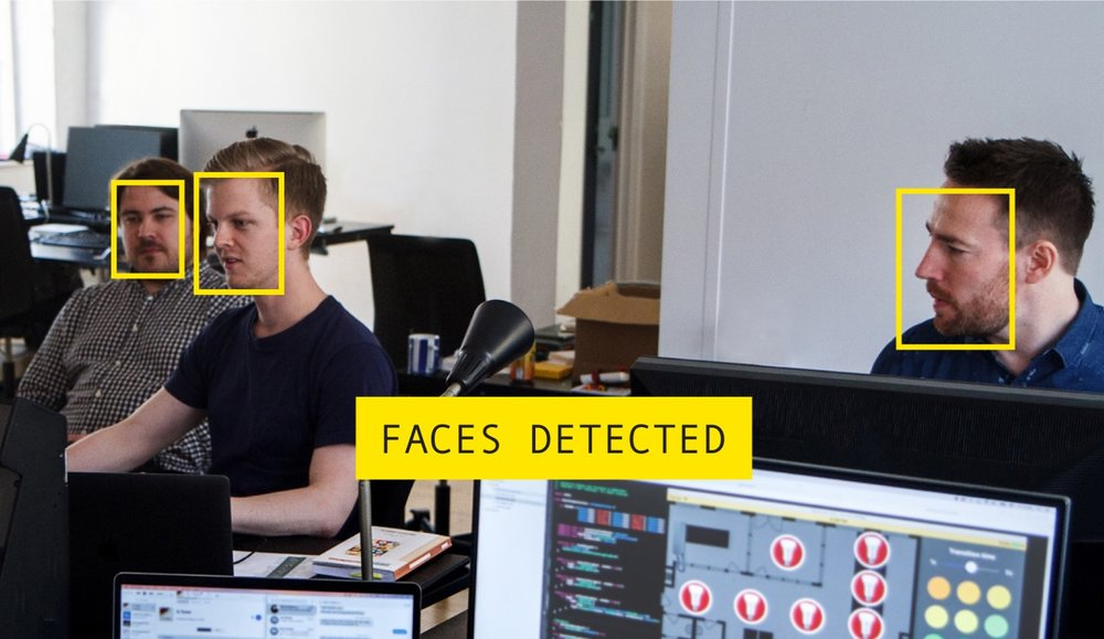 Face detection, face recognition og ansigtsgenkendelse igennem iOS hos Touchlogic i forbindelse med 'Internet of things' Hackaton.