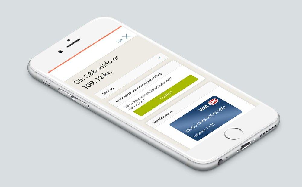CBB appen viser saldo