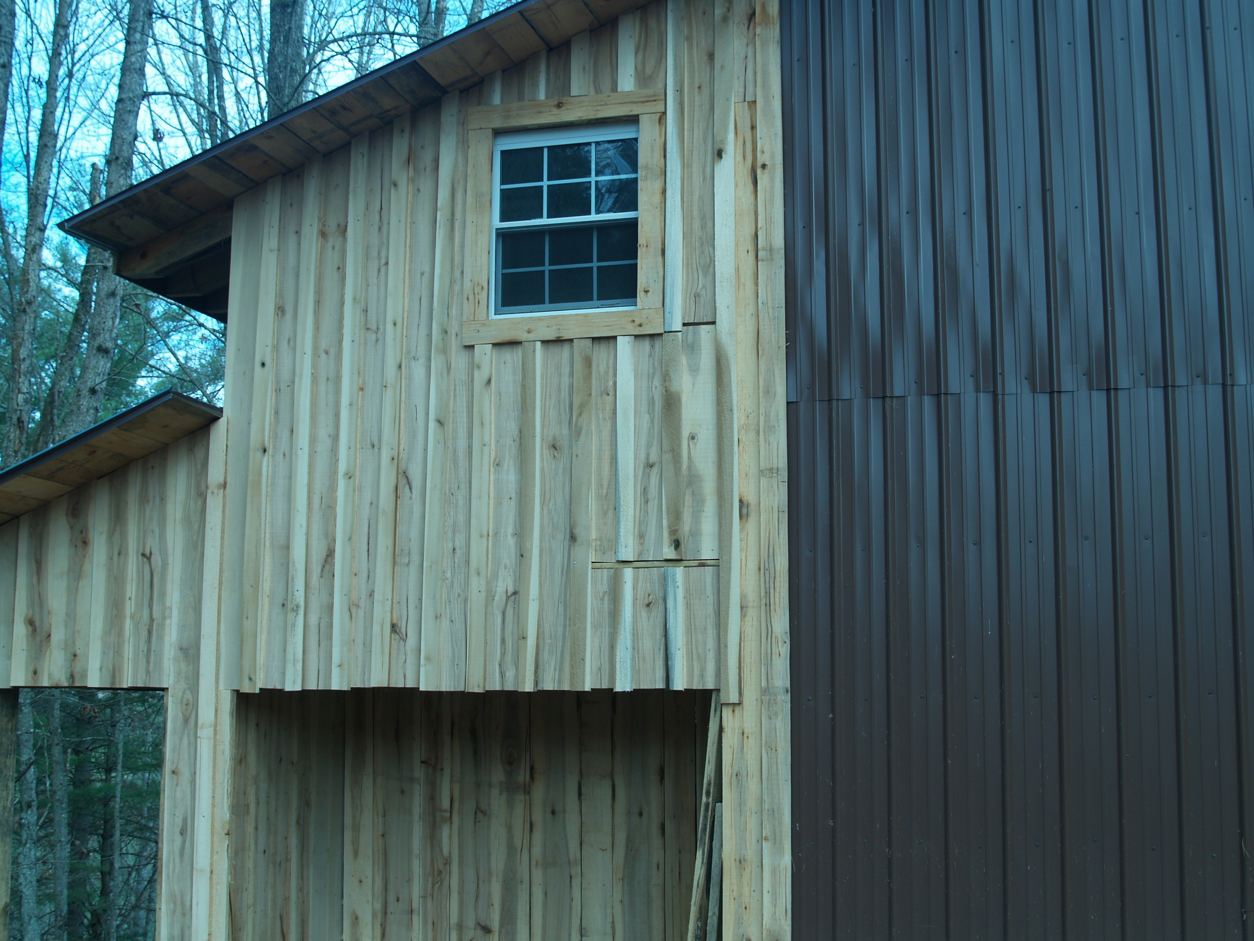 hickory sided.  all cut from our own forest!