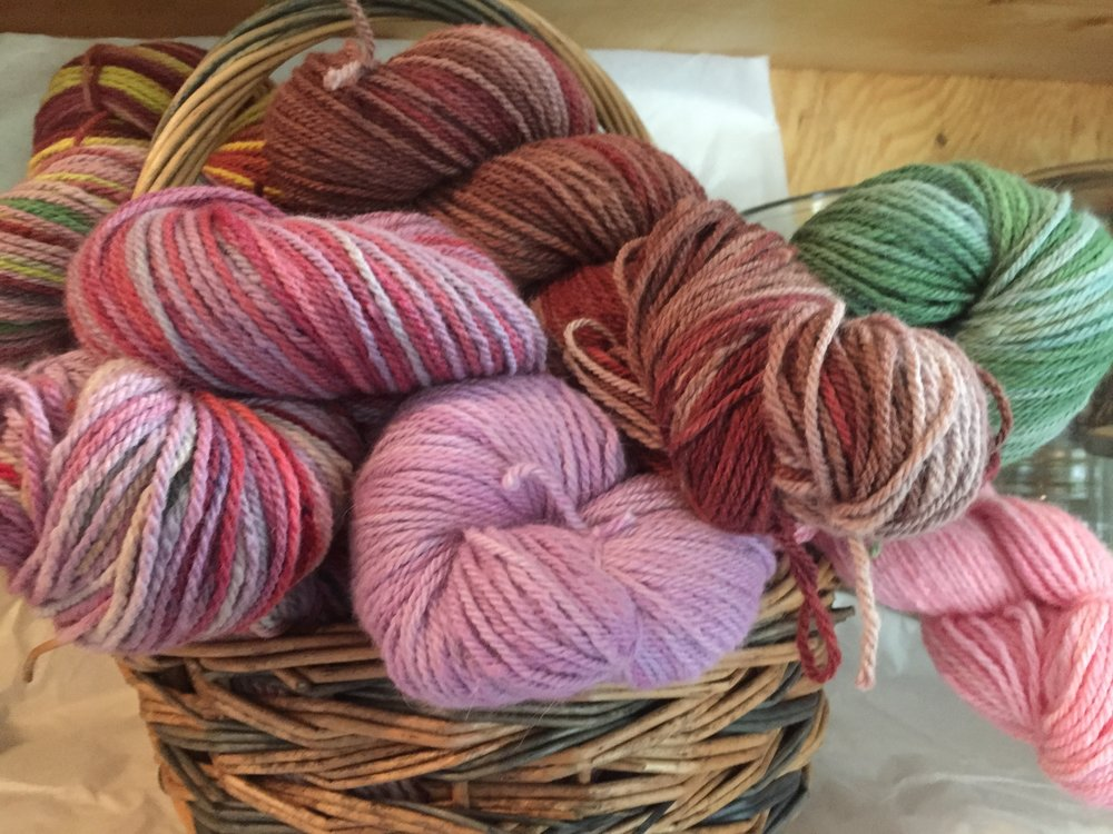 some of the angora yarn, dyed to order
