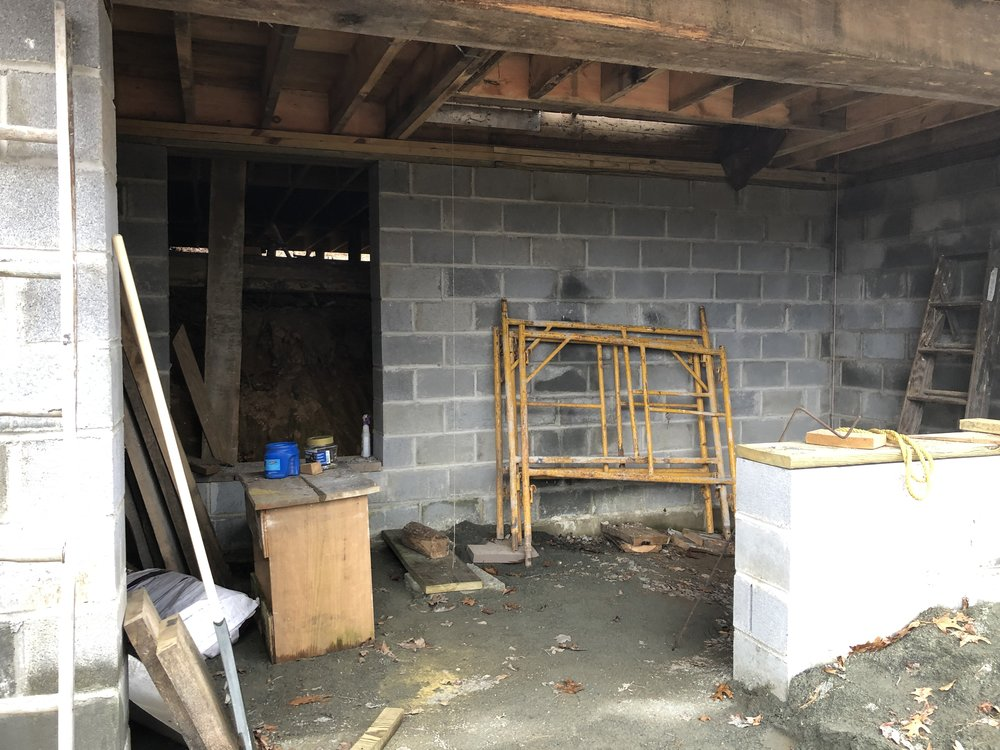 this is the basement. A full support basement will go under the whole studio eventually.