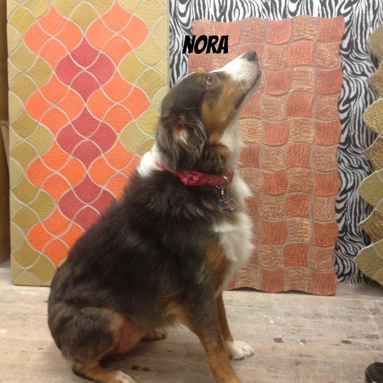 Dog with Handmade Tiles