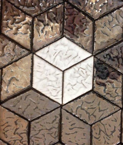 3D Cube Tile Pattern