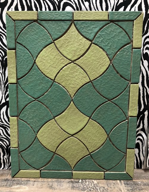 Shield Turquoise and Green Tile Design