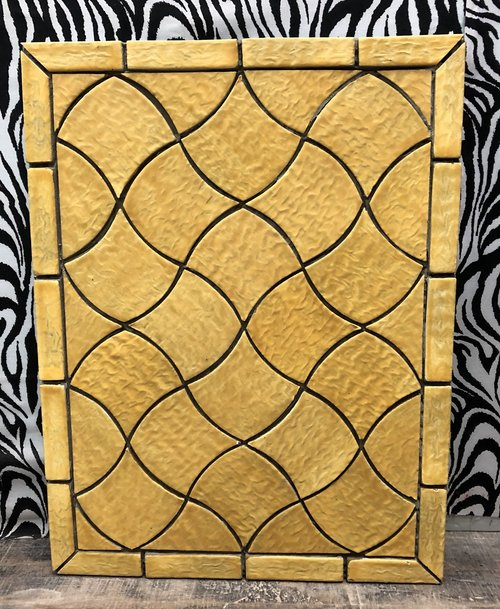 Yellow Shield Custom Tile Pattern