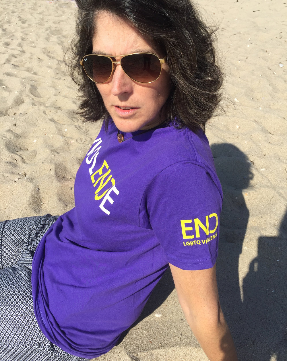 End #LGBTQ Violence with our purple tshirt